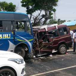 tata sumo accident 4 person dead