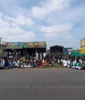 chidambaran farmers hold rally