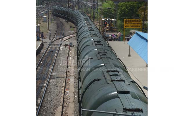 jolarpettai to chennai rail water