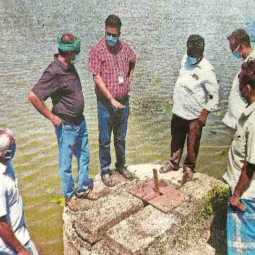 cuddalore district lake water released farmers and officers