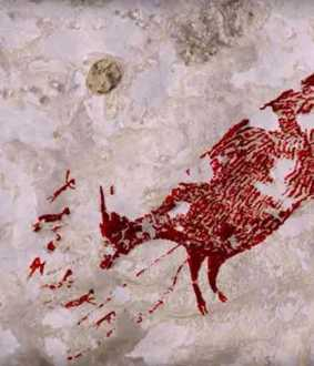 44000 years old cave painting found in indonesia