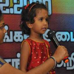 Tamil! At the age of three and a half Pranavi!