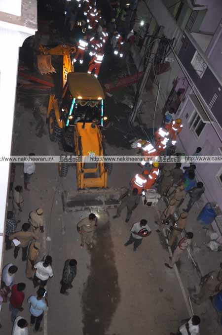 Chennai Perungudi Building Accident - Pictures