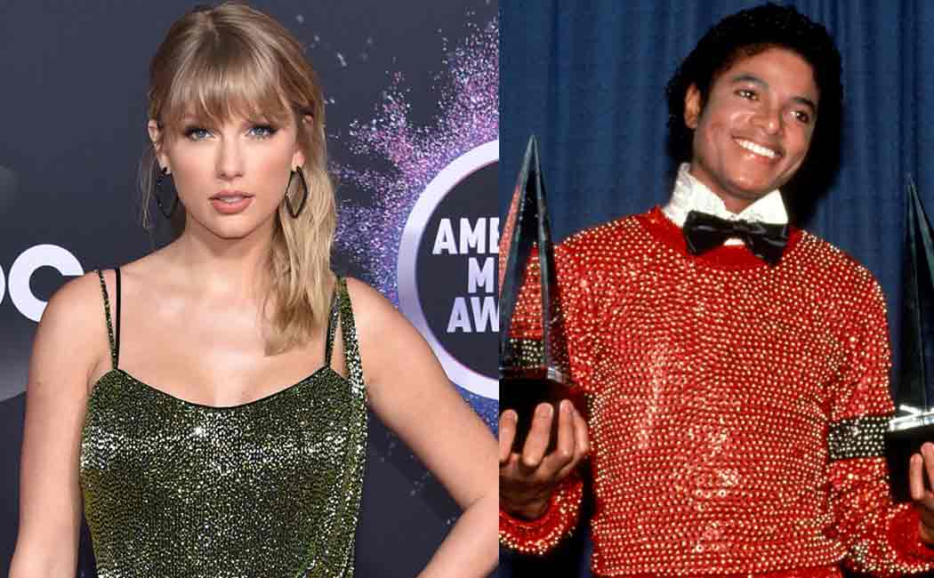 taylor swift surpasses michael jacksons record in ama