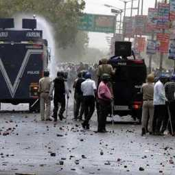 stone pelting function in madhyapradesh