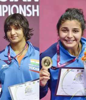 india bags four medals in a day at asian wrestling championship