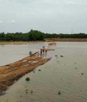 villagers affected as temporary road was swept away!