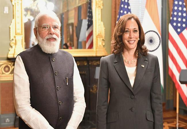 Modi's US tour! Ignored Kamala Harris!