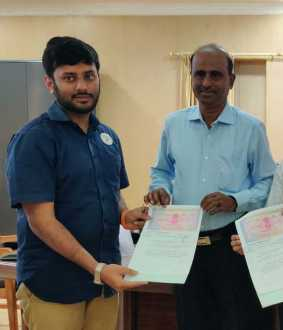 CHIDAMBARAM LAKE CLEANING PROCESS AGREEMENT SIGN COLLECTOR