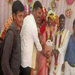 Petrol gift to wedding couple near Chidambaram