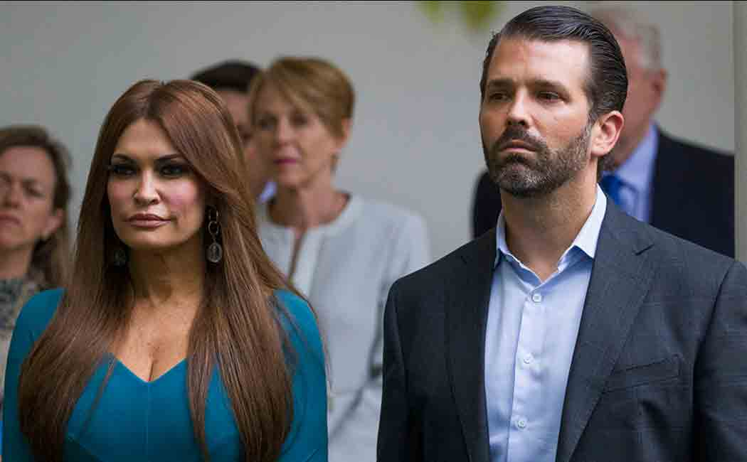 trump junior's girlfriend tested positive for corona