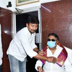 dmk udhaya nidhi stalin meet with dmdk party chief vijayakanth