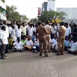 Local body election-DMK protest