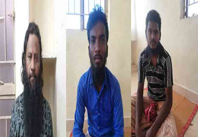ramanathapuram district illegal activities police arreted three persons court custody order