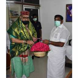 union minister meet tamilnadu cm at chennai