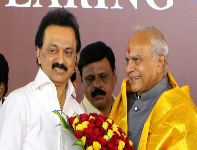 tamilnadu dmk president meet with governor for today