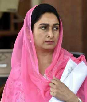 president accepts harsimrat kaur badal's resignation