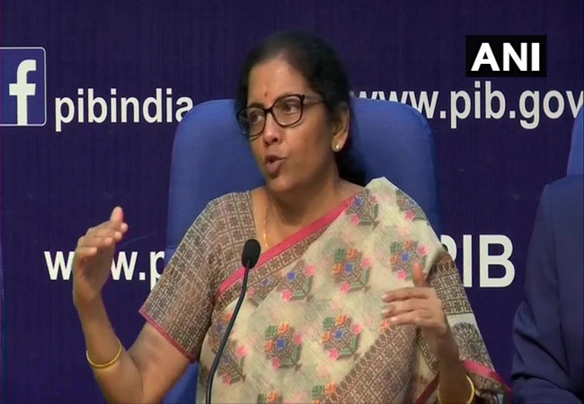union finance minister nirmala sitharaman meet press and announced public sector banks