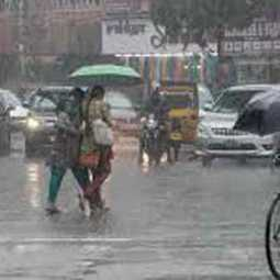 chance to Heavy rainfall in three districts