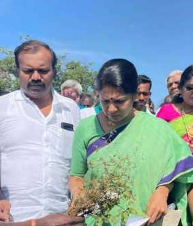Kanimozhi MP who expressed his condolences to the disturbed farmers ..