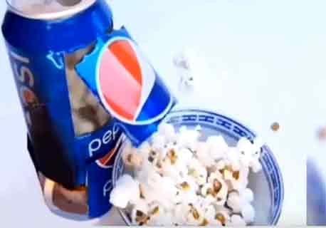 the incident of 14-year-old girl trying to popcorn on YouTube