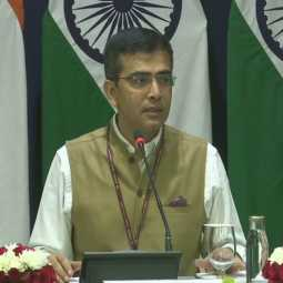 india external minister secretary raveesh kumar called press meet