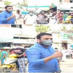 cuddalore district collector peoples masks coronavirus prevention
