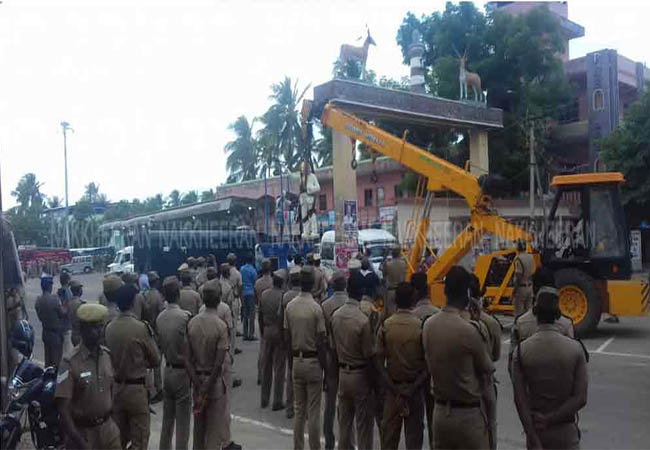 nagai vedharanyam ambedkar statue issue normal condition police