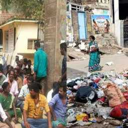 Cleaners struggle for two days - Ambur turned into a garbage city!