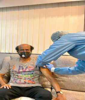ACTOR RAJINIKANTH TAKE HAD CORONAVIRUS VACCINATED