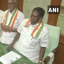 puducherry assembly floor test cm narayanasamy government