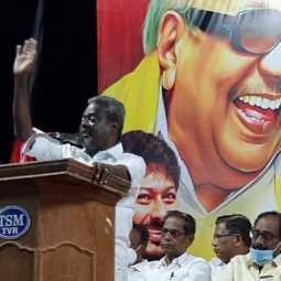 Nagapattinam MP Selvarasu election campaign at nagapattinam