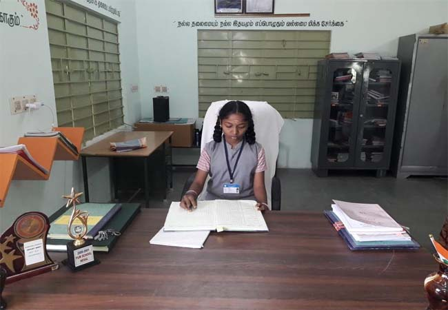 One day as a headmaster school girl in thiruvannamalai district