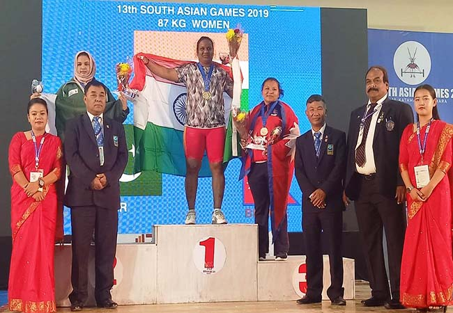 nepal south asian sports tamilnadu player anuradha win gold medal