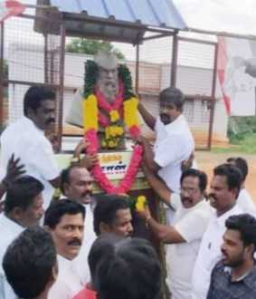 dindigul district ammk  party celebrating the periyar birthday celebration