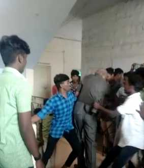 college principal and students police