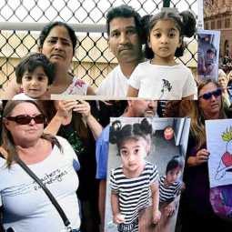 australian people protests in support of tamil family