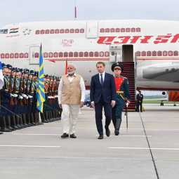 india prime minister narendra modi arrives in russia
