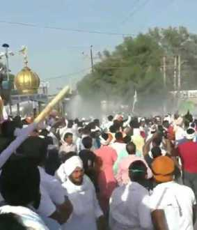 water cannons used in haryana to disperse the farmers