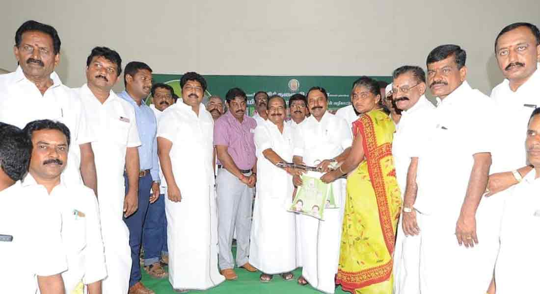 Minister Senkottaiyan who initiated the Pongal special project in Kopi