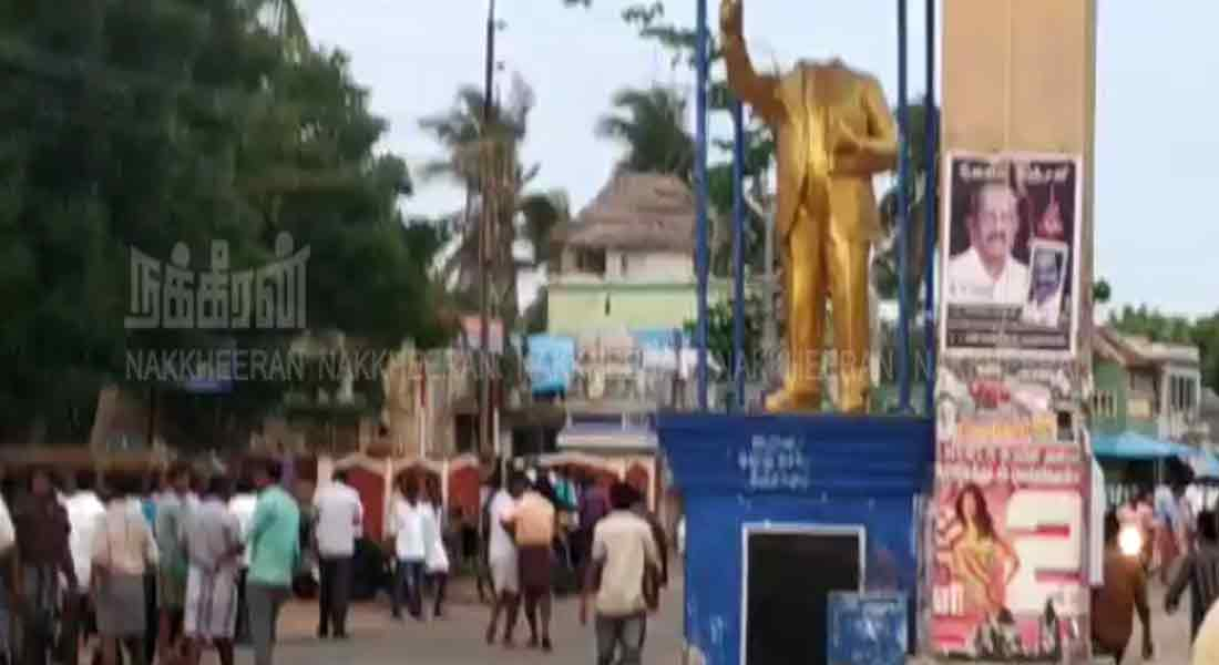 Statue of Ambedkar attacked in vetharanyam