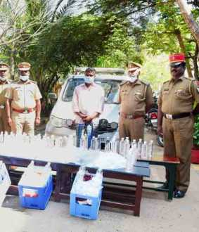 puducherry police liquor seizures