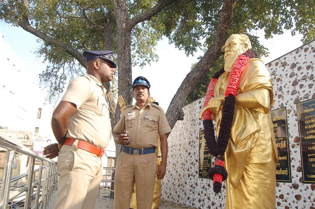 The Periyar statue will be secured until further orders
