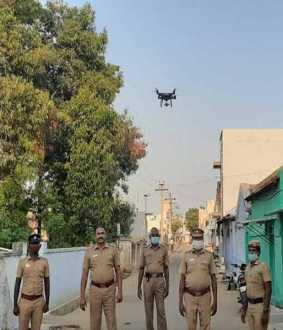 Heli cam viewing 'Erode' - Police Action