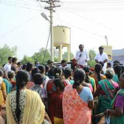 erode district dmk candidate election campaign and interact with peoples