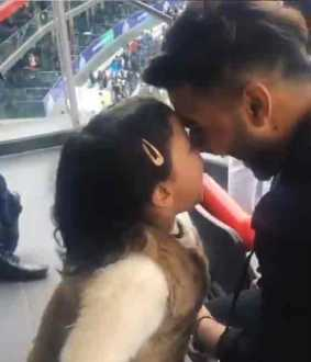 video of ziva dhoni and rishab pant playing in stadium goes viral