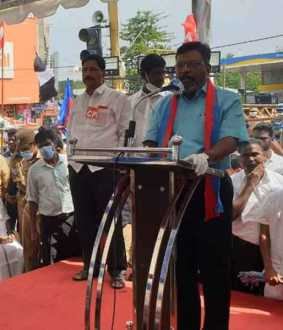 'The country does not need governorships' - Thiruma speech in the ongoing struggle to condemn Kiranpedi