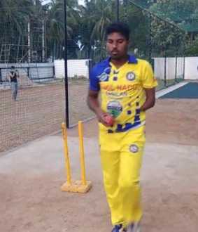 Disabled cricketer Srinivasan