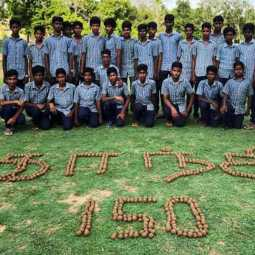 Gandhi 150 .. government school students who made seed balls!