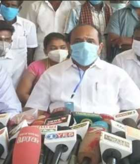 minister kadambur raju press meet at kovilpatti